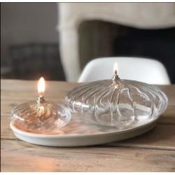 Lampe à huile ellipse striée