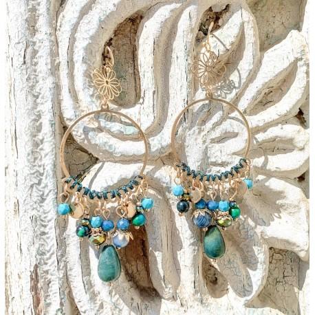 Boucle d'oreille perles - Gypsy
