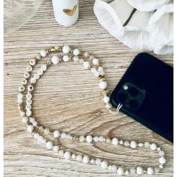 Bijou de téléphone collier en perle - Karma