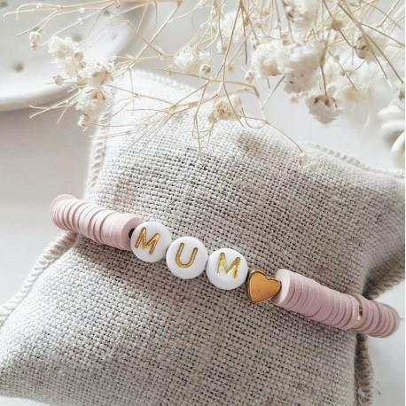 Bracelet perles Maman
