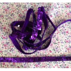 Galon paillettes rondes violet