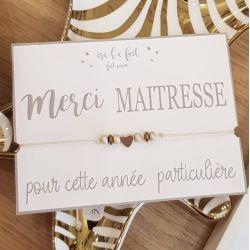 Bracelet perles Merci Maîtresse