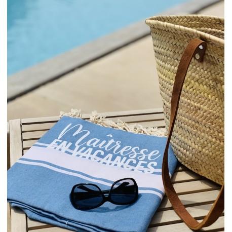 Serviette de plage fouta Maîtresse en Vacances