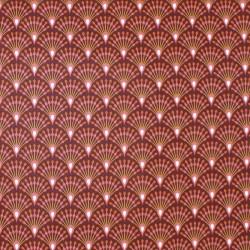 Tissu enduit rouge Wasabi