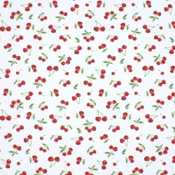 Tissu enduit blanc Cerise
