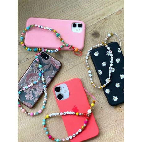 Bijou de téléphone bracelet perles - KARMA