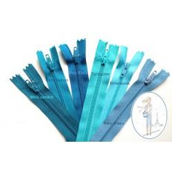Fermeture éclair bleu turquoise