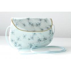 Sac à main - Pochette - Poketto fleurs bleues
