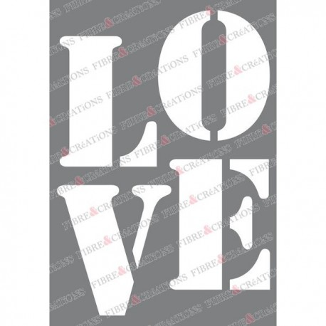 Pochoir pour tissu - Love -