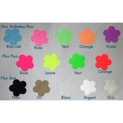 Tissu thermocollant fluo - vert -