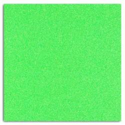 Tissu thermocollant fluo pailleté - vert -