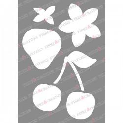 Pochoir pour tissu - Papillon et oiseau -