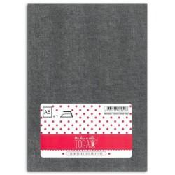 Tissu thermocollant jean - Bleu Chiné gris-