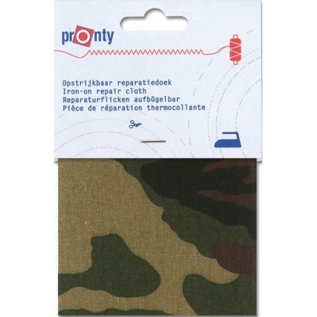 Tissu thermocollant militaire grand camouflage