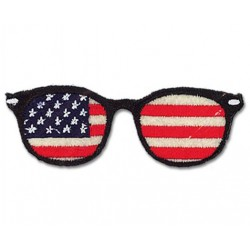 Ecusson thermocollant lunettes USA