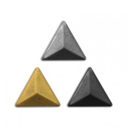 Assortiment clous thermocollants triangle 3D 8mm Bronze, argent, Anthracite
