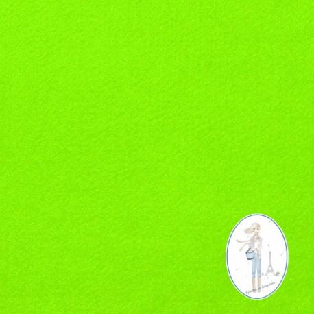 Coupon feutrine vert fluo 20 X 30 cm