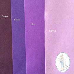 Coupon feutrine violet 20 X 30 cm