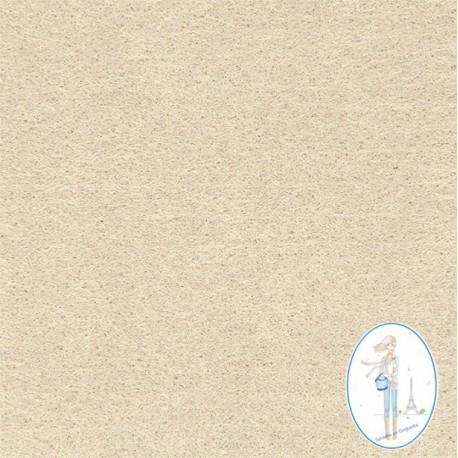 Coupon feutrine beige 20 X 30 cm