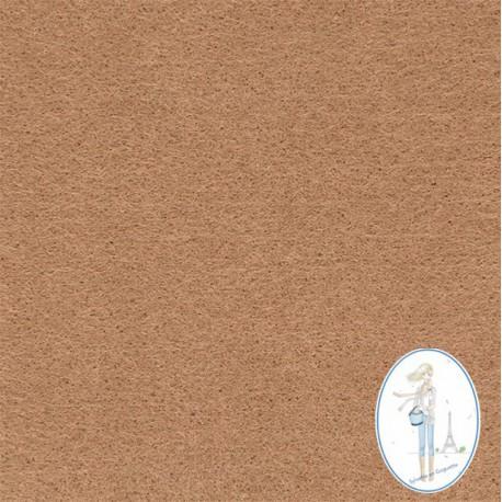 Coupon feutrine camel 20 X 30 cm