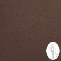 Coupon feutrine chocolat 20 X 30 cm