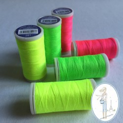 Fil à coudre polyester 200m jaune fluo - 281F