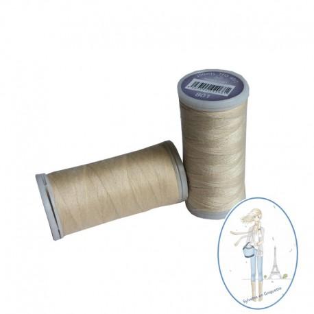 Fil à coudre polyester 200m crème - 801
