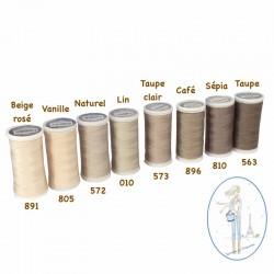 Fil à coudre polyester 200m café - 896