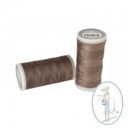 Fil à coudre polyester 200m sépia - 810