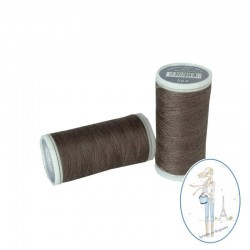 Fil à coudre polyester 200m taupe - 563