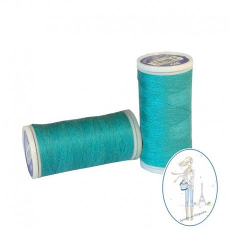 Fil à coudre polyester 200m turquoise - 548