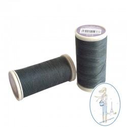 Fil à coudre polyester 200m gris acier - 013