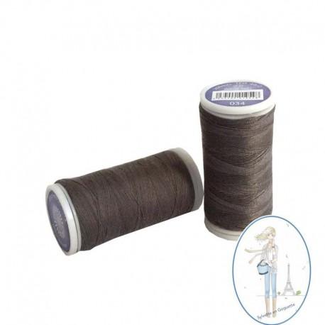 Fil à coudre polyester 200m terre ombrée - 034