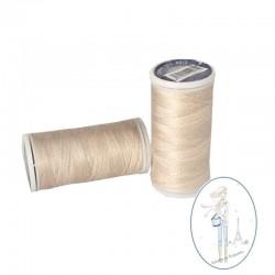 Fil à coudre polyester 200m beige rosé - 891