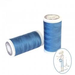 Fil à coudre polyester 200m bleu océan - 837
