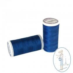 Fil à coudre polyester 200m bleu roy - 918