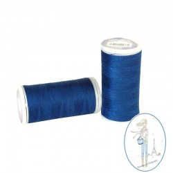 Fil à coudre polyester 200m bleu outremer - 115