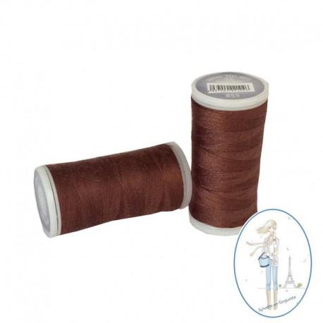 Fil à coudre polyester 200m auburn - 855