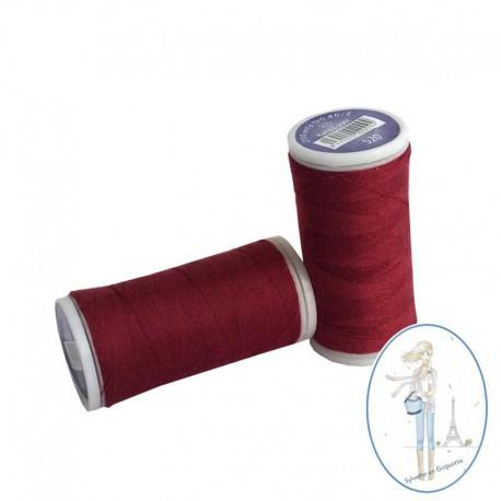 Fil à coudre polyester 200m bordeaux - 520