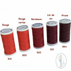 Fil à coudre polyester 200m prune - 864