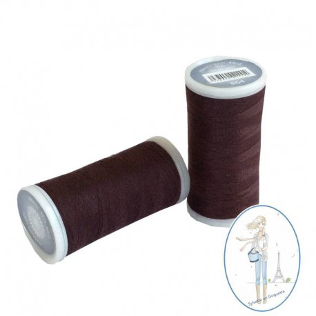 Fil à coudre polyester 200m prune - 864
