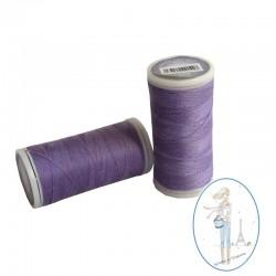Fil à coudre polyester 200m mauve - 553