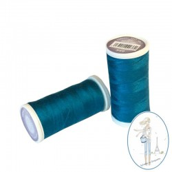Fil à coudre polyester 200m bleu indien - 549