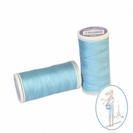 Fil à coudre polyester 200m bleu clair - 542