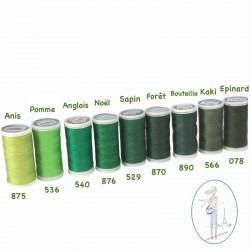 Fil à coudre polyester 200m bouteille - 890