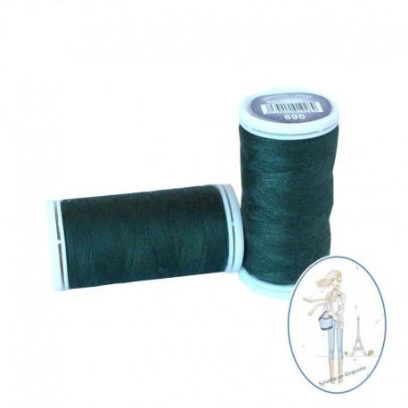 Fil à coudre polyester 200m vert bouteille - 890