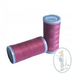 Fil à coudre polyester 200m rose bonbon - 514