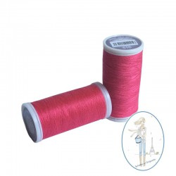 Fil à coudre polyester 200m rose framboise - 516