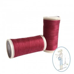 Fil à coudre polyester 200m ruby - 016