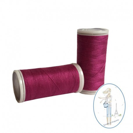 Fil à coudre polyester 200m fuschia - 853